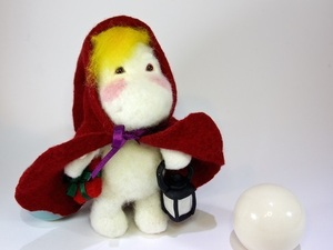 Felted little red riding hood