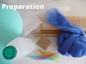 Preperation Wet Felt Purse