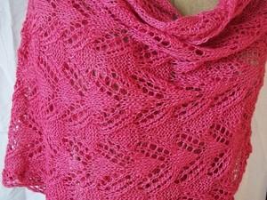 Pink wool wrap