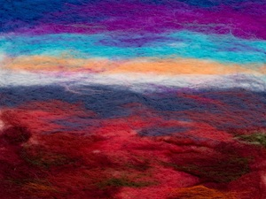 Coming In To Land, The Red Centre, Australia – Hand Felted Merino Wool Tops With Free Machine Embroidery And Hand Stitching
