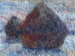 Various felted pieces