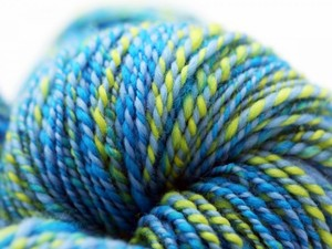 Blue and Green yarn