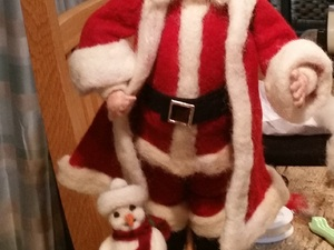 3d Father Christmas Which Is Actually A Portrait Of A Real Person Core Wool And Merino Roving