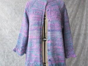 Purple merino wool cardigan