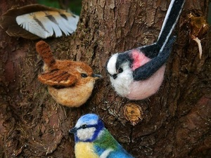 Garden Bird Brooches