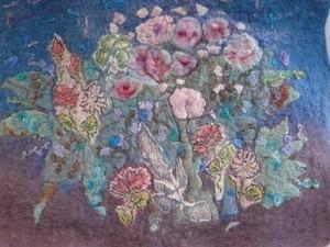 Bouquet of flowers created using felt