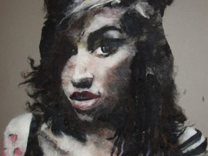 Painting with wool - Amy Winehouse