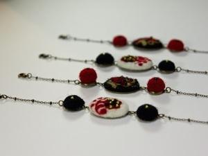 Range of beaded bracelets