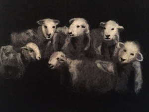 A Group Of Herdwick Sheep Made Using Merino Wool