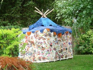 Tipi made made out of felt material
