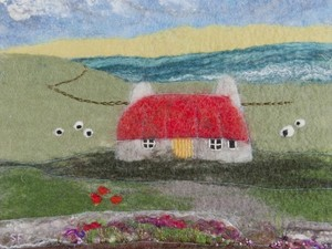 Felt house in the field