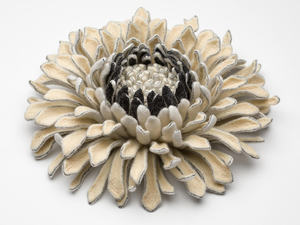 Velleity's Dance Merino Wool Pre Felt, Tussah Silk