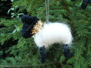 Christmas tree hanging sheep