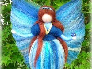 Blue stripped fairy in garden