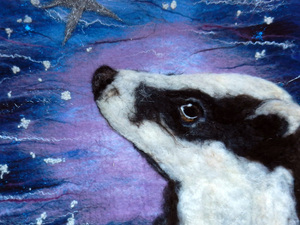 Star gazing badger