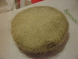 This Is The Result On Merino Undyed Wool With Spinach Dye, Green.