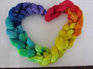 Heart made out of jumbo yarn