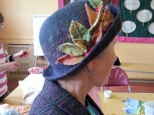 Felt hat with flower detail