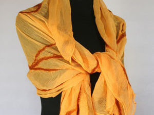 Golden Bracken Nuno Felt Wrap