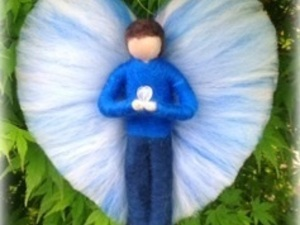 Male felted angel