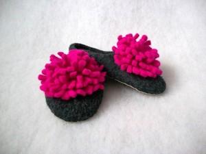 Merino felted slippers