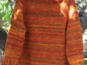 Orange merino felt scarf