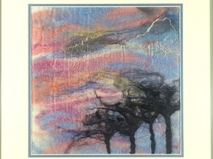 Felted windy print