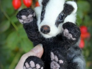 Badger made out of felt