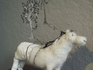 Horse design made out of felt