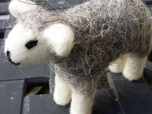 Small needle felted sheep