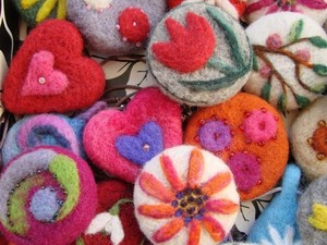Selection of felted broaches