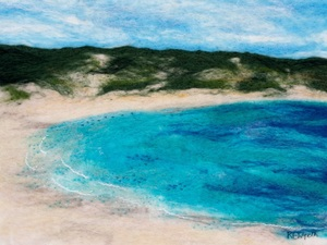 Hanson Bay, Kangaroo Island – Hand Felted Merino Wool Tops With Free Machine Embroidery And Hand Stitching
