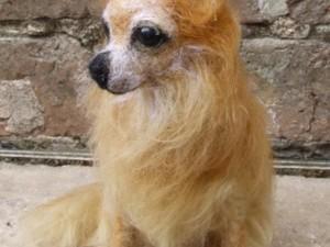 Chihuahua created using needle felt