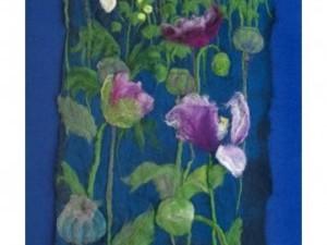 Flower piece using needle felt