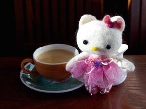 Mini felted bear with tutu detail