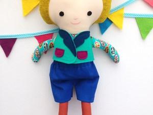 Cute boy doll with ears