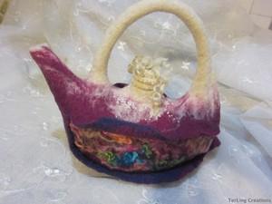 Purple felt genie lamp