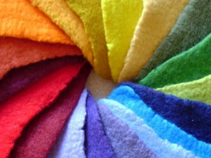 Array of different coloured felt