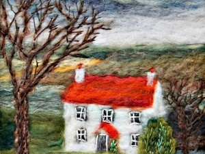 House image created using felt