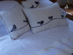 Cushion covers made out of felt