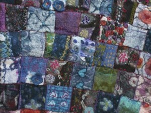 Patchwork blanket made out of felt