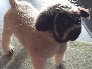 Small felted pug