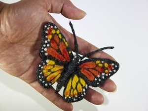 Autumn felted butterfly