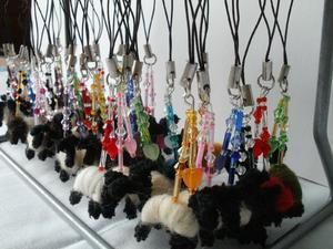 Selection of felted dog earrings
