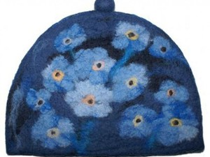 Blue flower hat