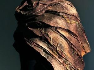 Brown felt scarf