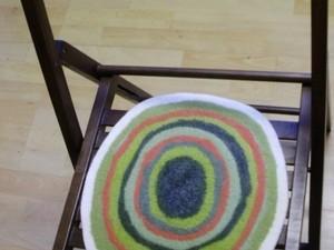 Round felt seat cover