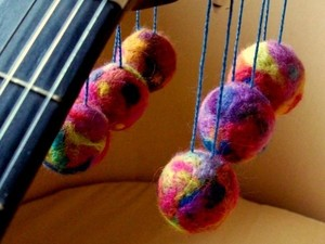 Colourful felt balls