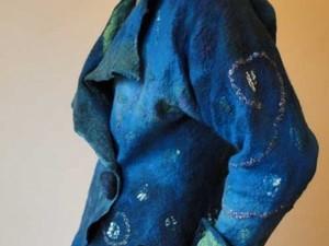 Blue felted jacket