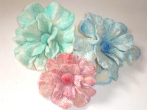 Handpainted Merino & Silk Flowers
